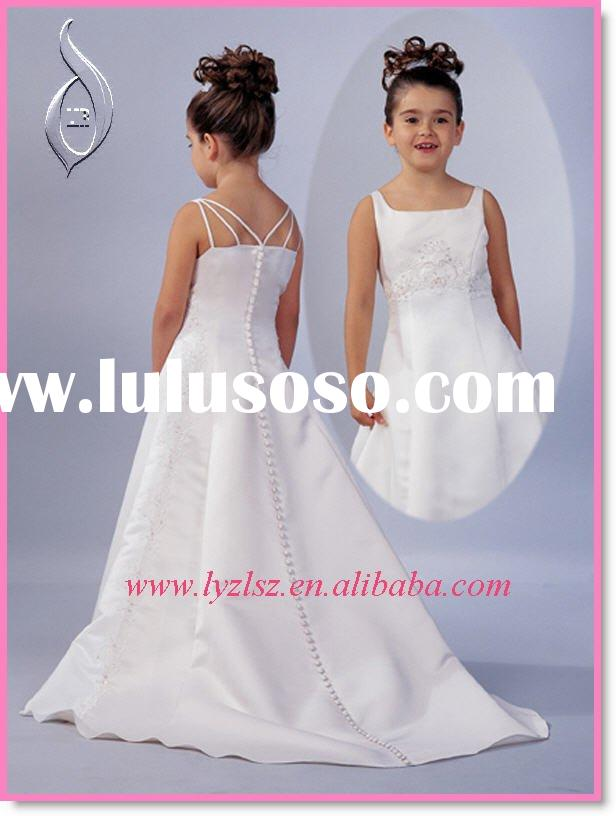 Beautiful Flower Girl Dress with Train FG0281