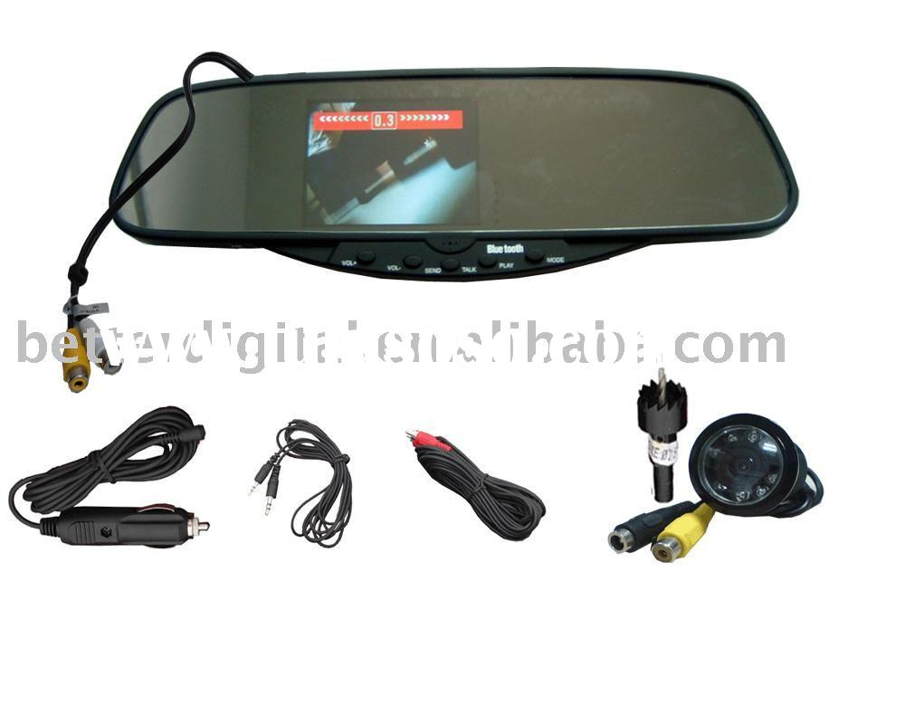 Bluetooth handsfree car kits with wireless camera and wireless parking sensor