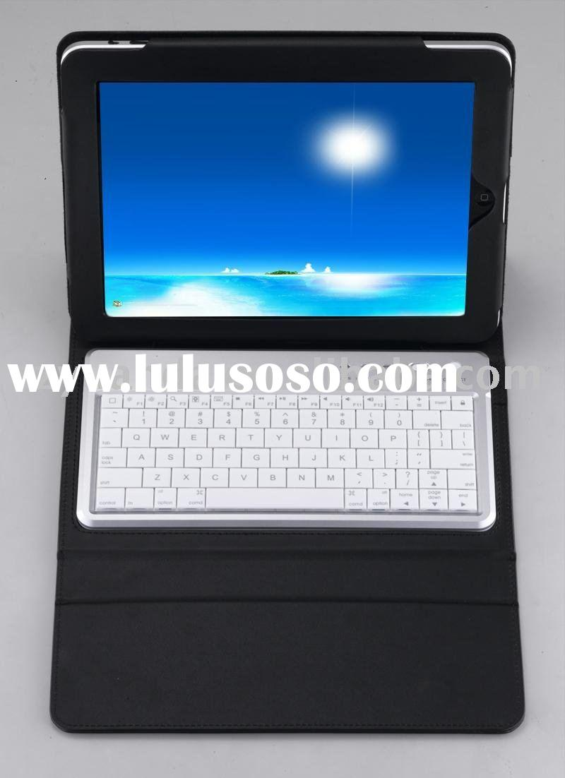 Bluetooth keyboard for iPad+ leather case