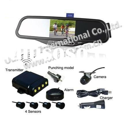 Bluetooth rearview Mirror -- 3.5 inch Wireless Back-up Camera and Parking Sensor