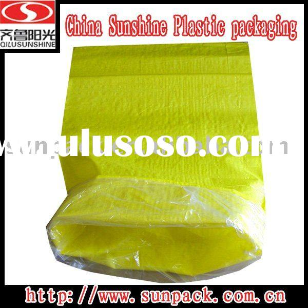 CHINA SUNSHINE SUPPLY YELLO WOVEN PP BAG WITH PE LINER
