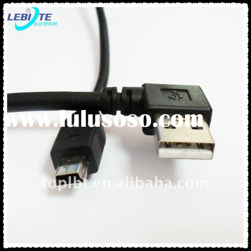 Cable USB A to Mini USB B angled male to male