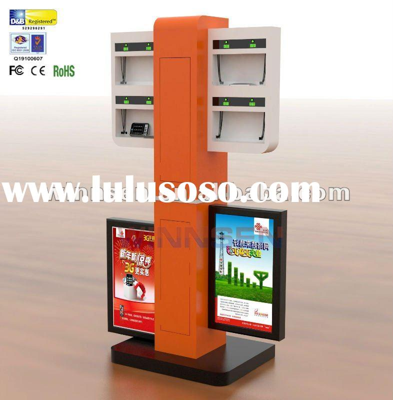 Cell Phone Charging Station with LED Light Box, and different charging tips for different brand mobi