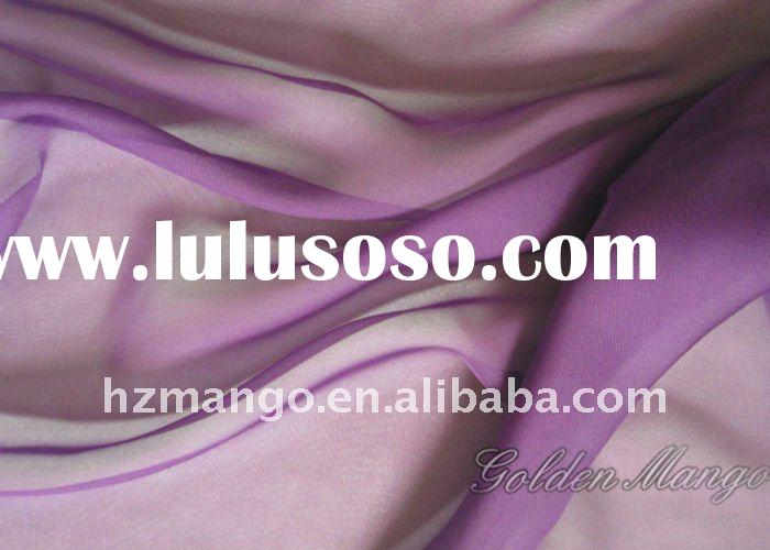 China silk chiffon 100% silk fabric with spandex