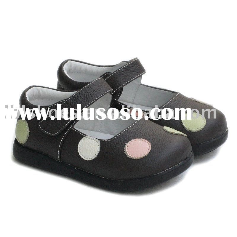 Classic polka dot design girls kids shoes, toddler shoes