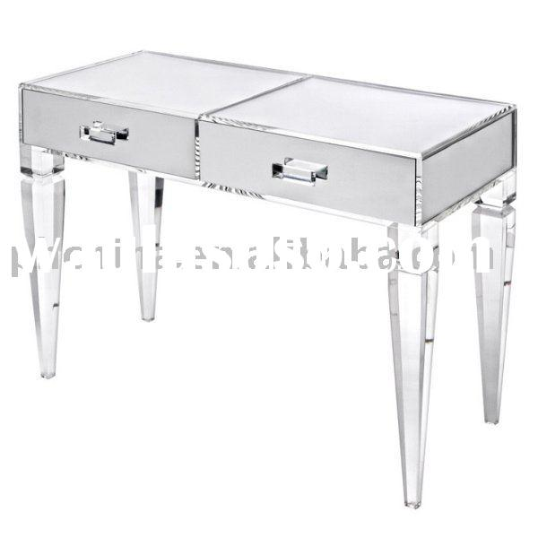 Clear Acrylic King George Vanity Table;Clear Acrylic Vanity;Clear Lucite Table;Organic Glass Table