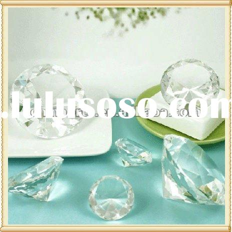 Clear Optic Crystal Diamond Wedding Table Decoration