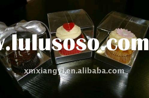 Clear cupcake/cake boxes with silver insert