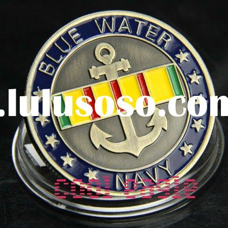 Custom Coin Navy Blue Water Challenge Coin Badge