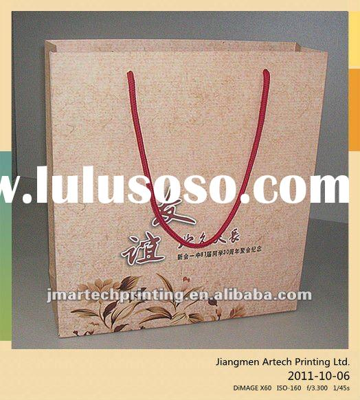 Customized Promotion shopping paper bag with handle