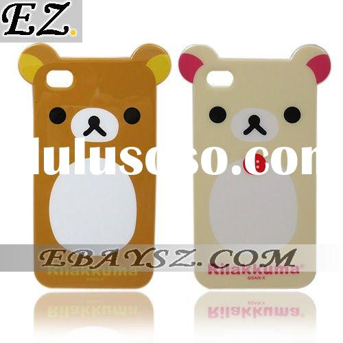 Die Cut Cover Rilakkuma Bear TPU Soft Case for iPhone 4 4G IP-541