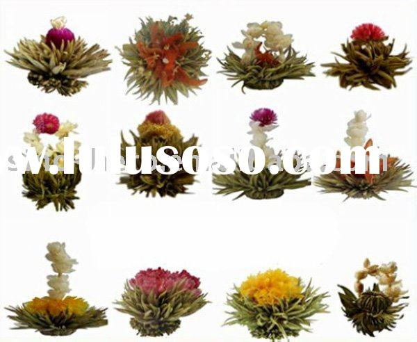 Different styles of Artistic Flowering Tea Balls,Artistic Flower Blooming Tea,100%Hand-made