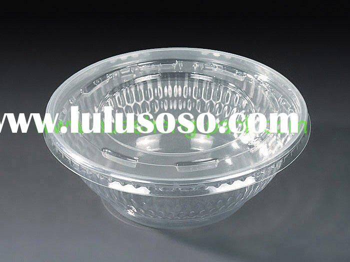 Disposable PET Plastic Salad Bowl Set