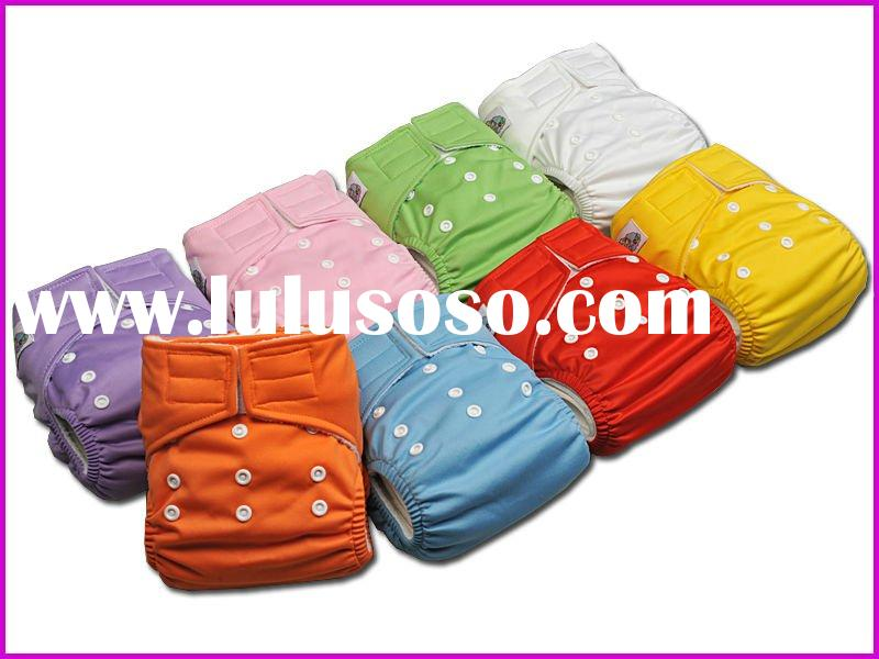 Eco-friendly Water Proof PUL Reusable Baby Velcro Cloth Diaper