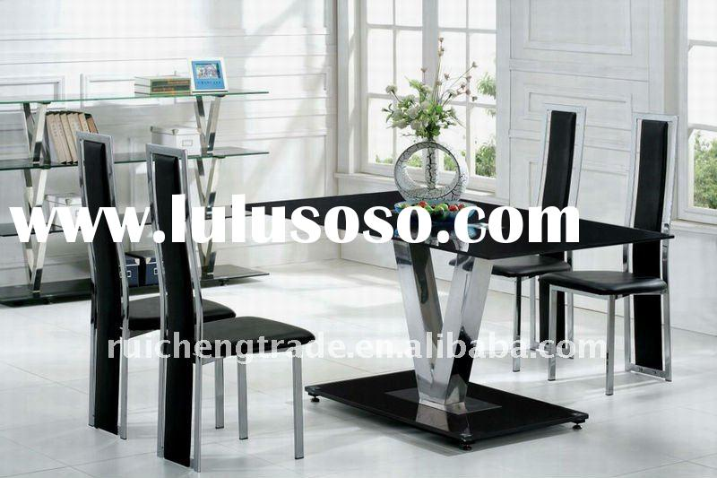 Elegant and modern glass dining table dining room furniture