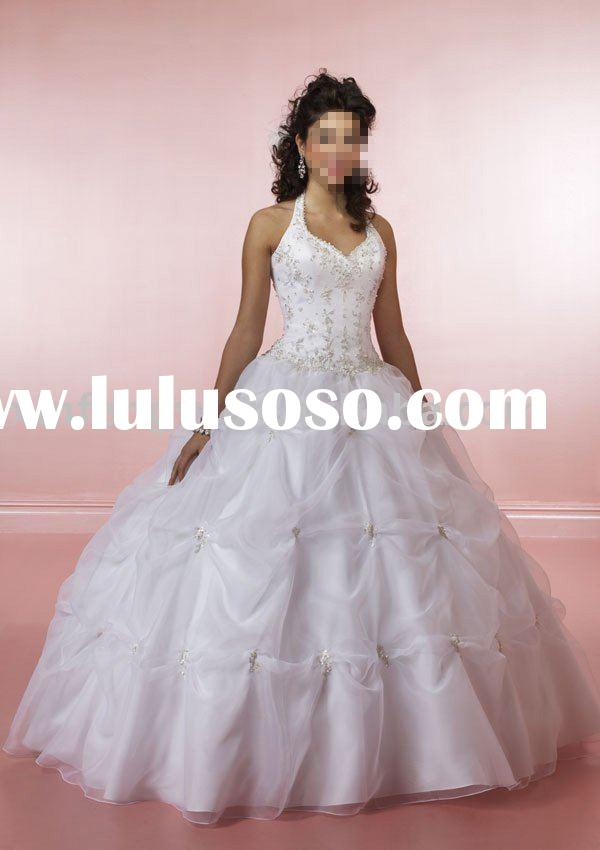 Embroidered halte tulle satin Fashionable Quinceanera dresses