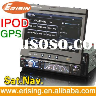 "Erisin 1 Dash Din 7"" DVD Car Player Wince 6.0 USB SD Radio TV GPS IPod"