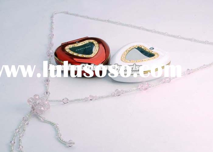 Fashion Heart Shape Diamond Lady Phone A1308 with Dual Sim,Good as Gift for Friend and Lover