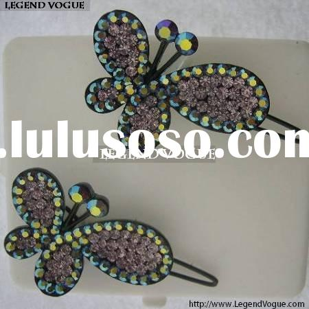 Fashion Purple Butterfly Hair Pin