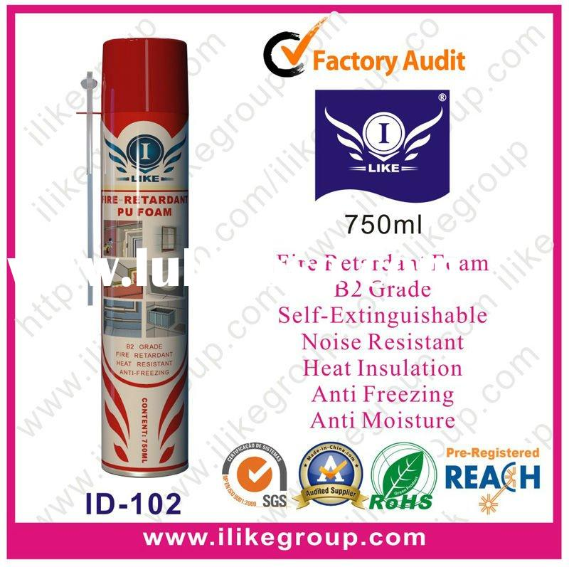 Fire proof pu foam spray for sale price china for Fireproof vapor barrier
