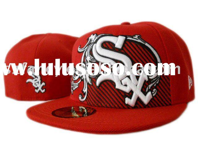 Flat Billed Embroidery Baseball caps For Chicago White Sox