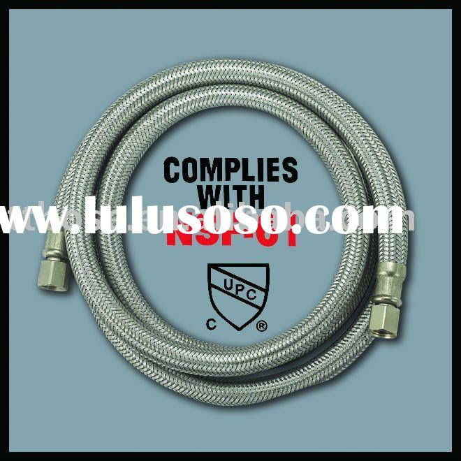 Flexible stainless steel braided icemaker hose