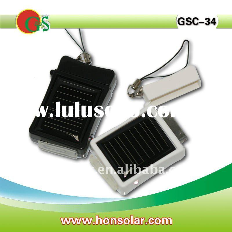 For iPhone mini solar charger, 500mah battery, black, white and green color.