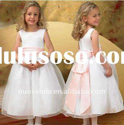 Free Shipping Canadian Flower Girl Dresses Casual Flower Girl Dresses Champagne Colored Flower Girl
