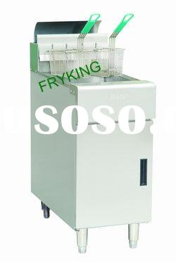Free Standing Stainless Steel Gas Fryer(1 tank 2 baskets)
