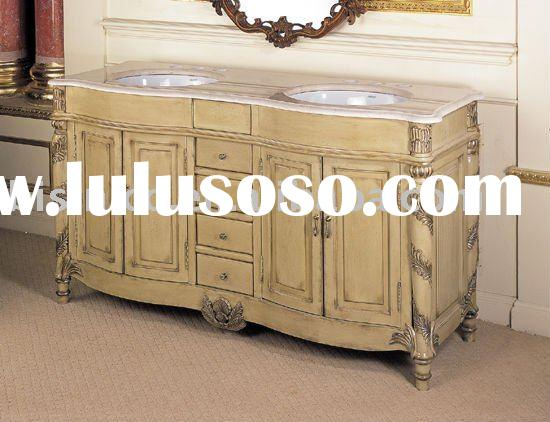 French antique wooden bathroom cabinet