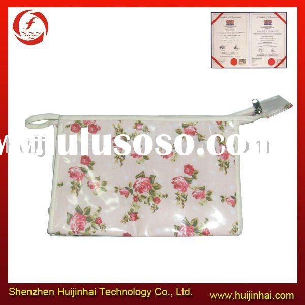 HJH-03005 flower pattern cosmetic bag flower print