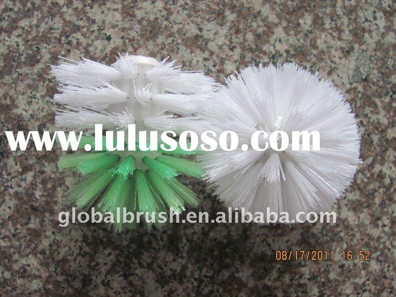 HQ2105-A bathroom cleaning plastic/wavy PP round toilet brush head