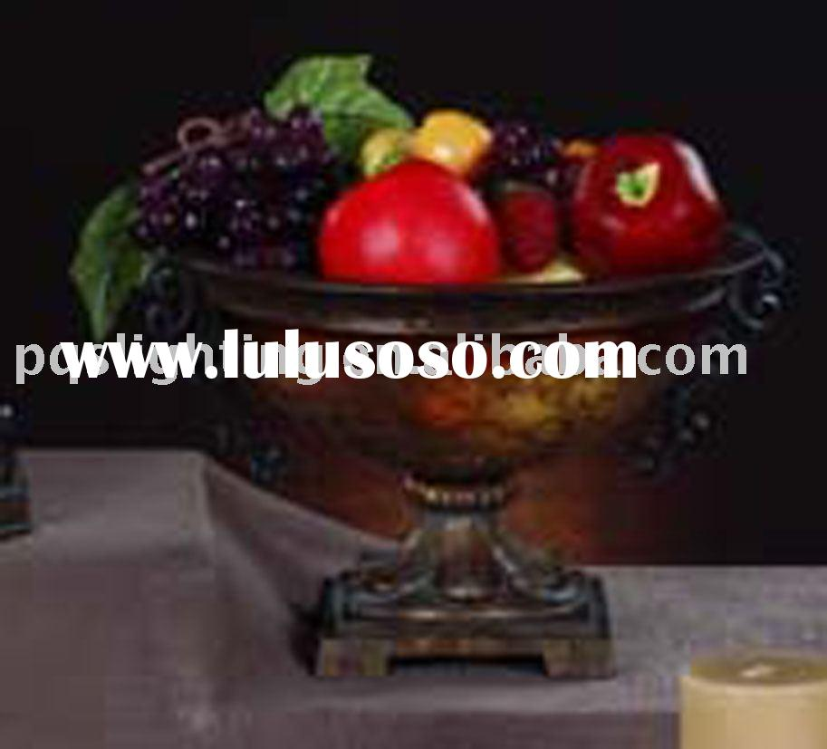 Hand Painted Resin Fruit Dish