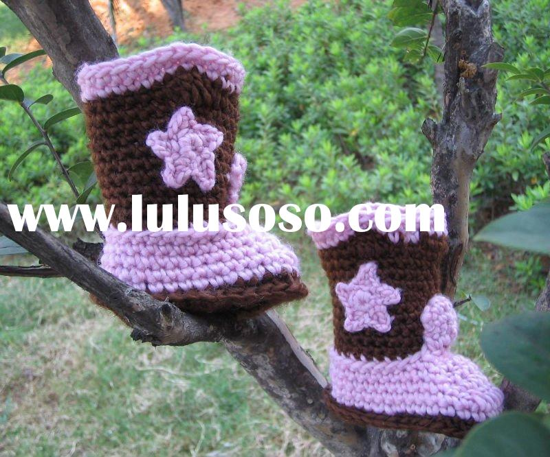Handmade Hand Crochet Knit Baby Shoes Sippers Booties