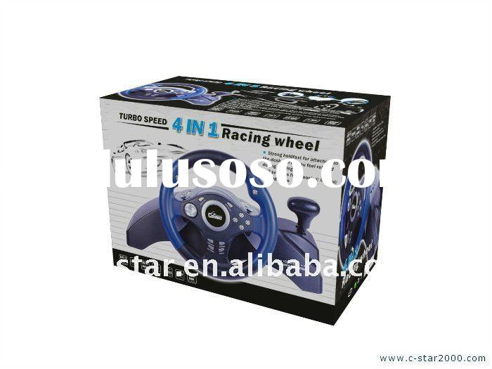Happy wheels game ,Vibration Racing Game Wheel For PS2 PS3 USB