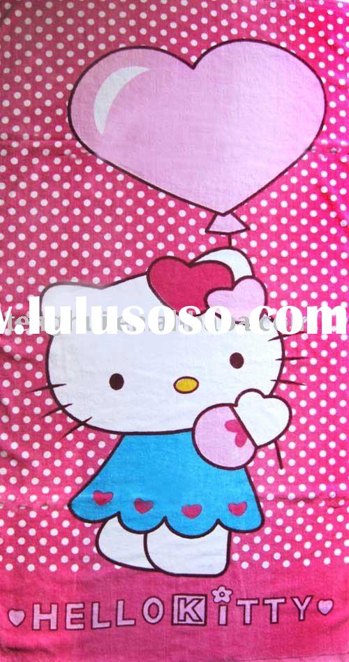 Hello kitty 100%new cotton baby print beach towel