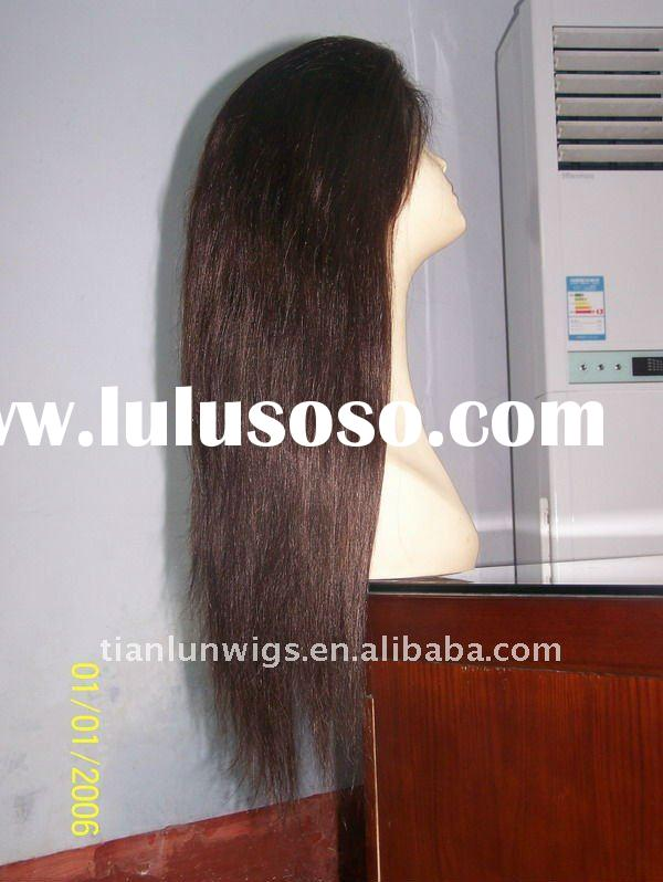 High quality and best selling 100% Indian remy human hair wigs long full lace wigs long hair cut