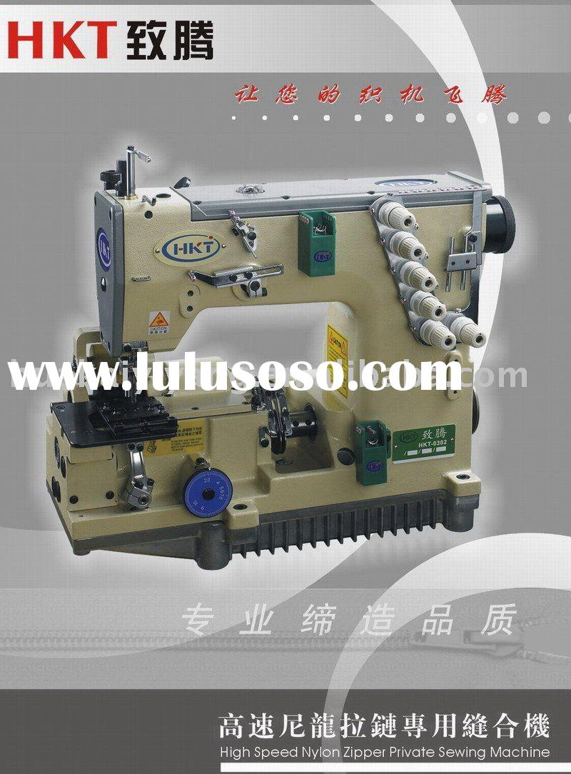 High speed nylon zipper industrial sewing machine