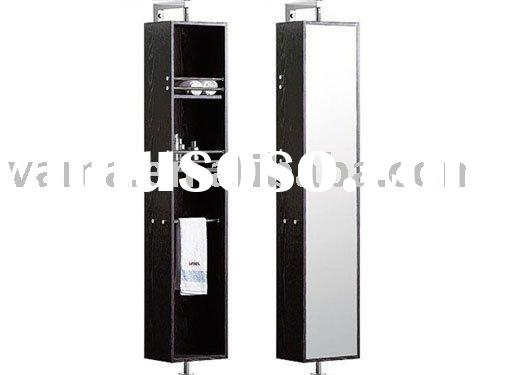 Hot sell revolving dressing mirror side cabinet/floor stand wood cabinet vanity/solid wood bathroom
