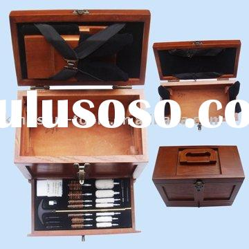 Hunting Product--Best-selling 25PC Wooden Box Gun Cleaning Kit