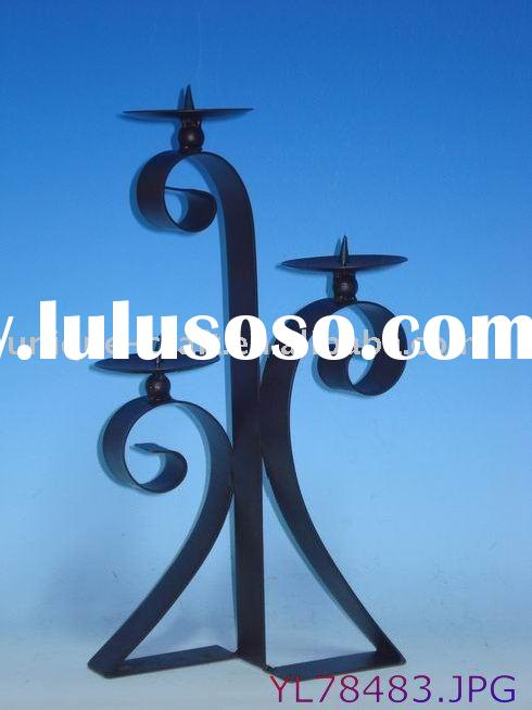 Iron candle holders,decorative candle holders,wrought iron candle holder