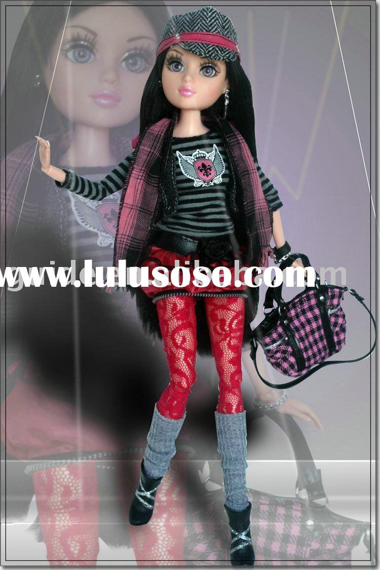 Joints-Moveable girl doll with Interchangeable Wigs