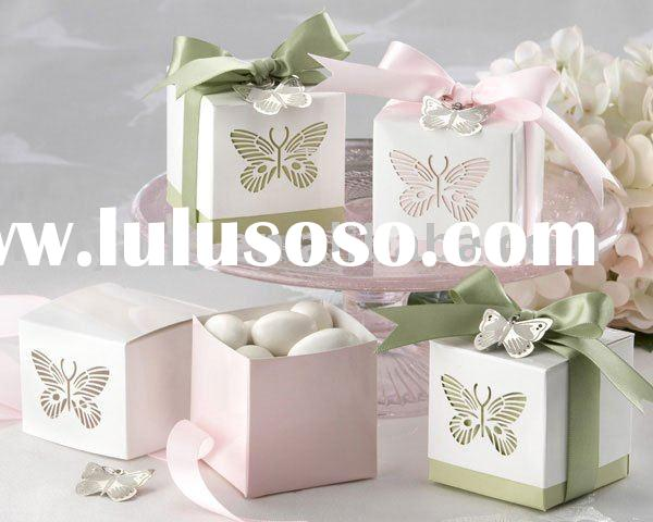 Laser-cut Butterfly Favor Box Boxes Gift box Candy box(