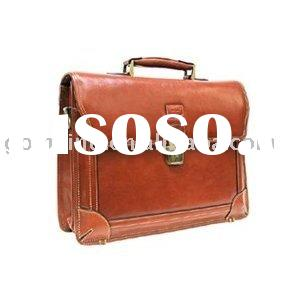 Leather Comp Briefcase,business bag brown, business briefcase, conference briefcase