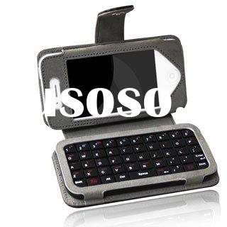 Leather case built-in Mini Bluetooth Wireless Keyboard for iPhone 4 specifically