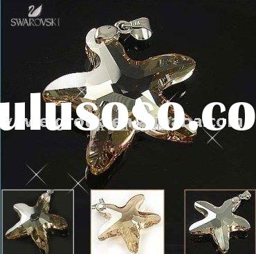 Low Wholesale Price Swaroski crystal star pendant necklace