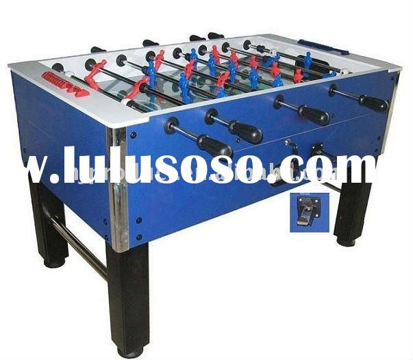 Manual coin operating machine soccer game table