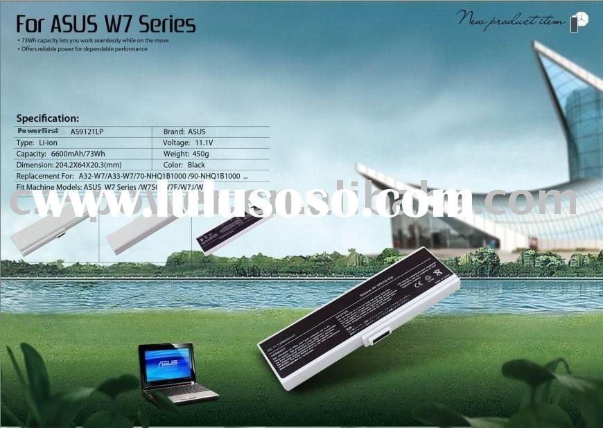 Manufacturer sell brand new oem laptop battery/notebook battery for ASUS W7 series,with good quality