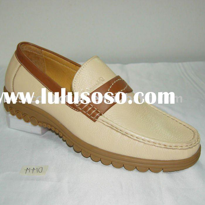 Men's smart casual leather italian shoes