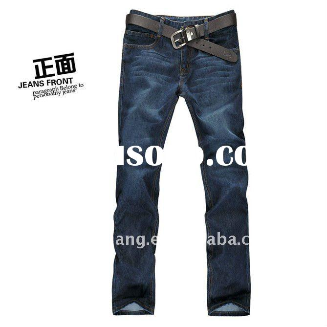 Men skinny blue denim jeans,fashion straight jeans pants